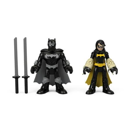 Imaginext DC Super Friends Black Bat and Ninja Batman Figure Set Black Hand Dc Comics