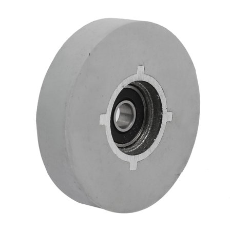 65mmx8mmx14mm Bearing Steel Rubber Flat Top Pinch Roller Edgebanding Wheel Gray ()