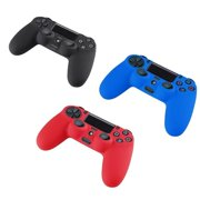 3 Packs Combo (Black, Blue, Red) Anti-slip Silicone Case Skin Protector Cover For Playstation 4 PS4 Wireless Game Controller, Brand New Product. Importer520.., By Importer520
