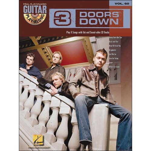 Hal Leonard 3 Doors Down Guitar Play-Along Volume 60 Book CD by
