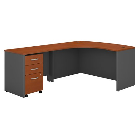 Series C Returns & Bundles 257 Lbs Weight Capacity Engineered Wood 60 W x 43 D Left Hand L-Desk with 3 Drawer Mobile Pedestal