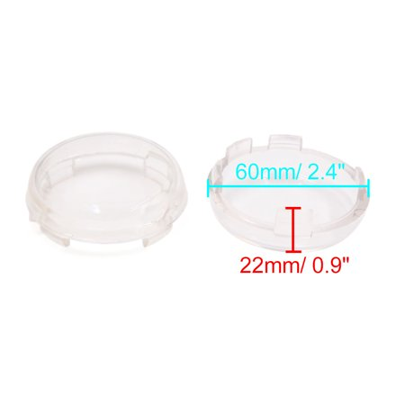 4pcs Clear Motorcycle Turn Signal Light Lamp Cover Protector for Harley Davidson - image 1 of 2
