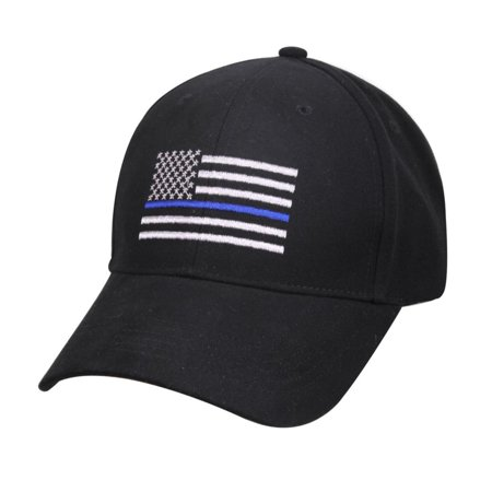 Rothco Thin Blue Line Flag Low Profile Tactical Cap For Police  Law Enforcement