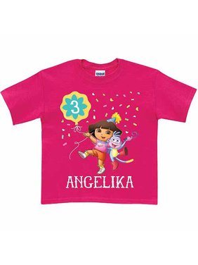 Personalized Dora the Explorer Toddler Girl Birthday T-Shirt