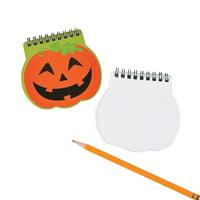 Fun Express - Pumpkin Spiral Notepad for Halloween - Stationery - Notepads - Notepads - Halloween - 12 Pieces