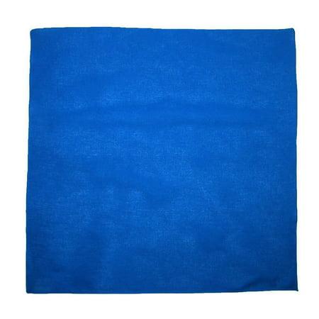 MTL® 100% Cotton Solid Color Bandana, Blue (Blue Bandanna)