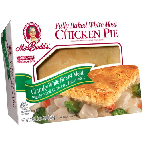 Mrs Budd's Fully Baked White Meat Chicken Pie, 28 oz