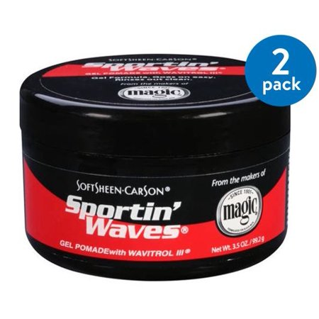 Sport In Waves Pomade ((2 Pack) SoftSheen-Carson Sportin Waves Gel Pomade with Wavitrol III )