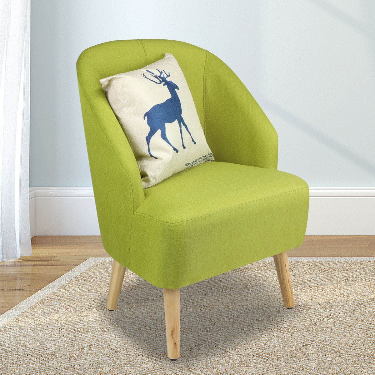 Chair Upholstery Fabric For Chairs: Elegant Upholstered Fabric Club Chair Accent Chair W/ Free