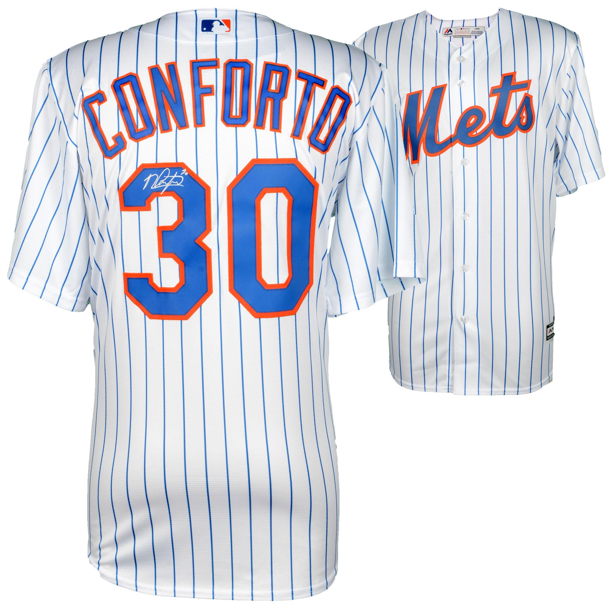 Michael Conforto New York Mets Fanatics Authentic Autographed Majestic White Replica Jersey - No Size