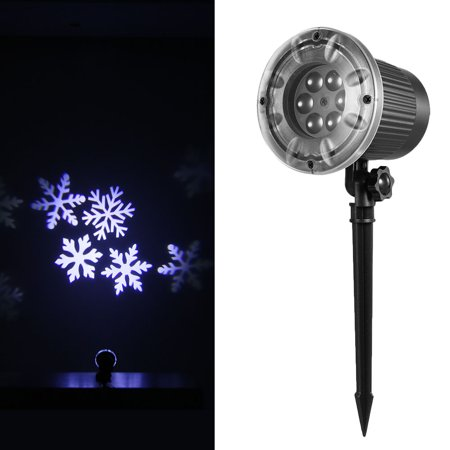 Projection Light Animated Led Projector White Snowflake Projector Lights Animation Slides Decorative Lighting for Holiday Party Home Yard Garden - image 7 de 7