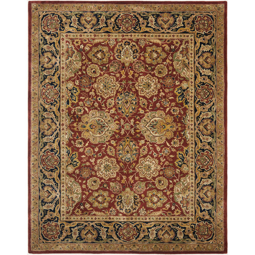 Safavieh Persian Legend Devona Hand Tufted New Zealand Wool Area Rug, Rust and Navy