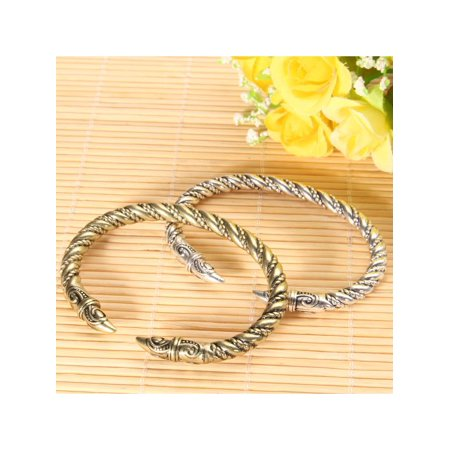 - Men's Large Bangles Retro Style Antique Handmade Vintage Viking Jewelry Bracelet
