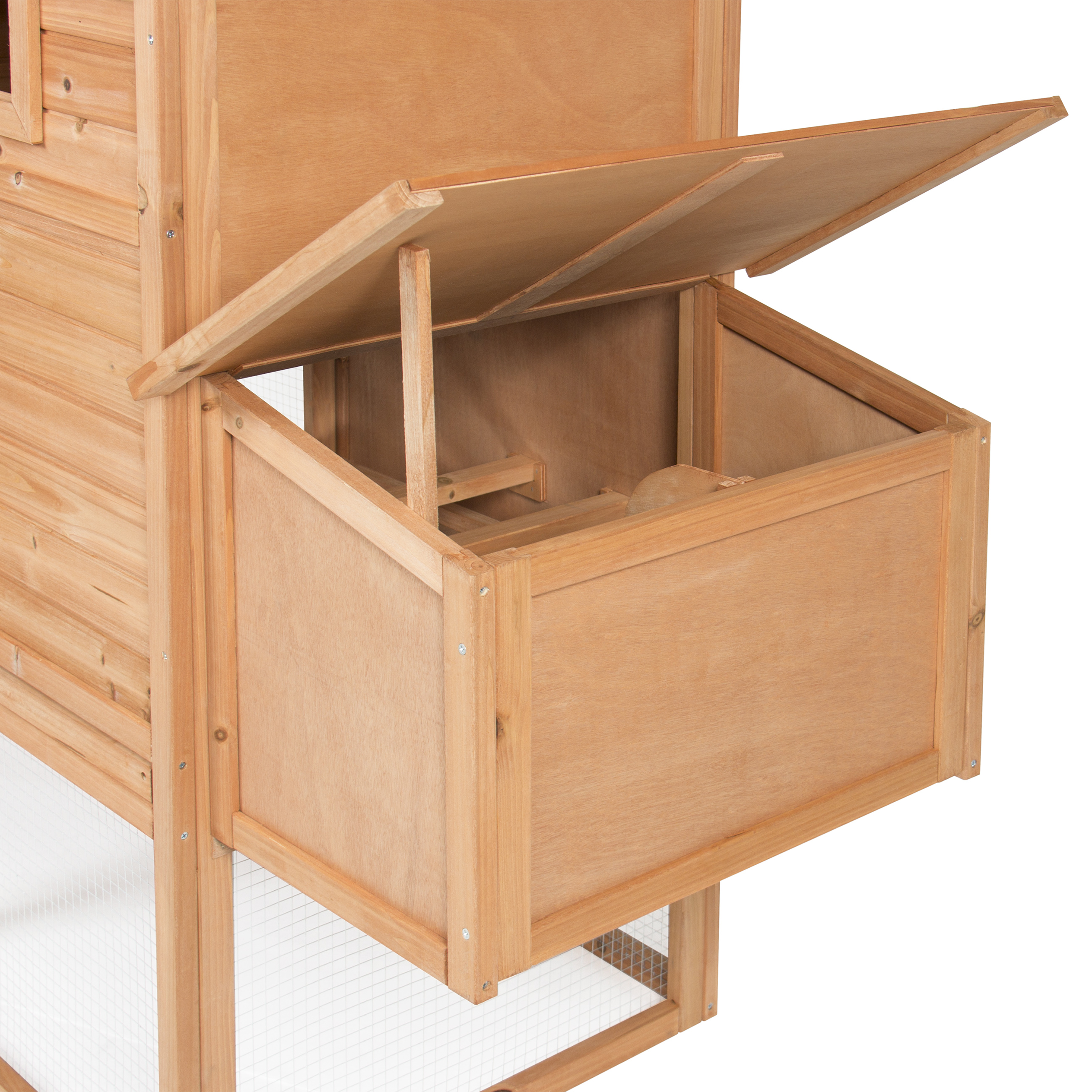 Best Choice Products 80in Outdoor Wooden Chicken Coop Hen House