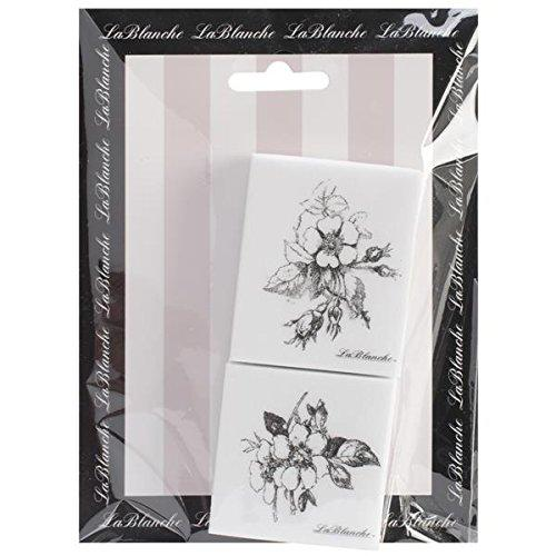 LaBlanche Silicone Stamp, 4.75 by 6.5-Inch, Rosebuds Multi-Colored