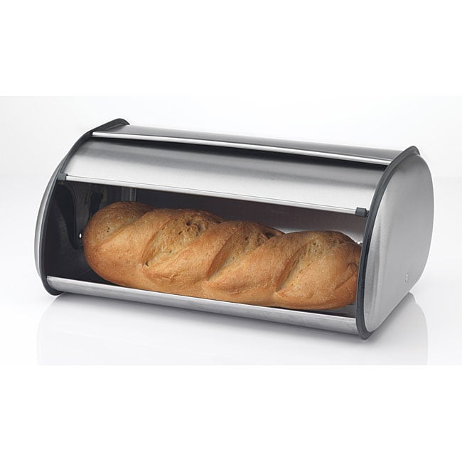 Prime Pacific  Full-sized 17-inch Brushed Stainless Steel Roll Top Bread Box