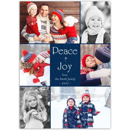 star of bethlehem 5x7 personalized religious holiday card