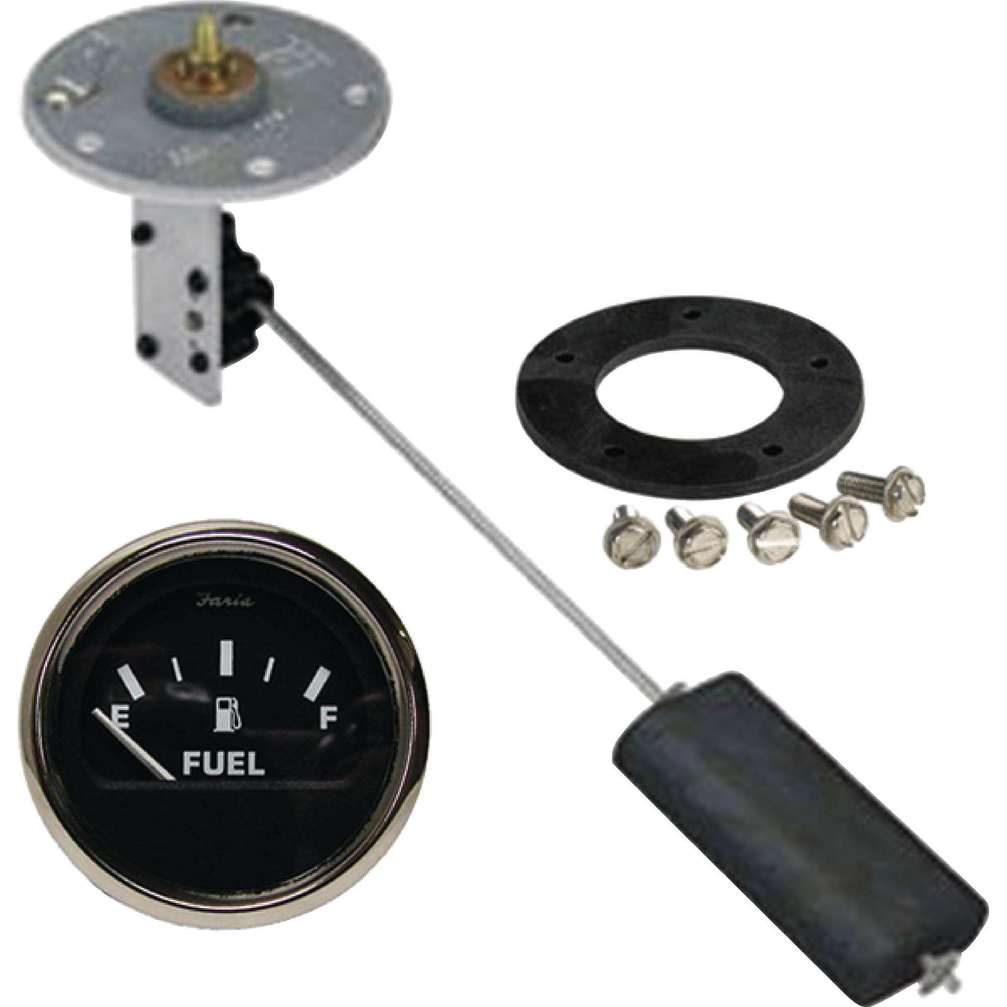 "Moeller Swingarm Electric Sending Unit Complete Kit with Dash Mounted Gauge for 4"" to 28"" Tank Depth"