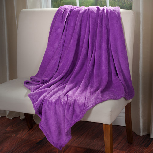 Everyday Home Soft Velvet Fleece Throw Blanket