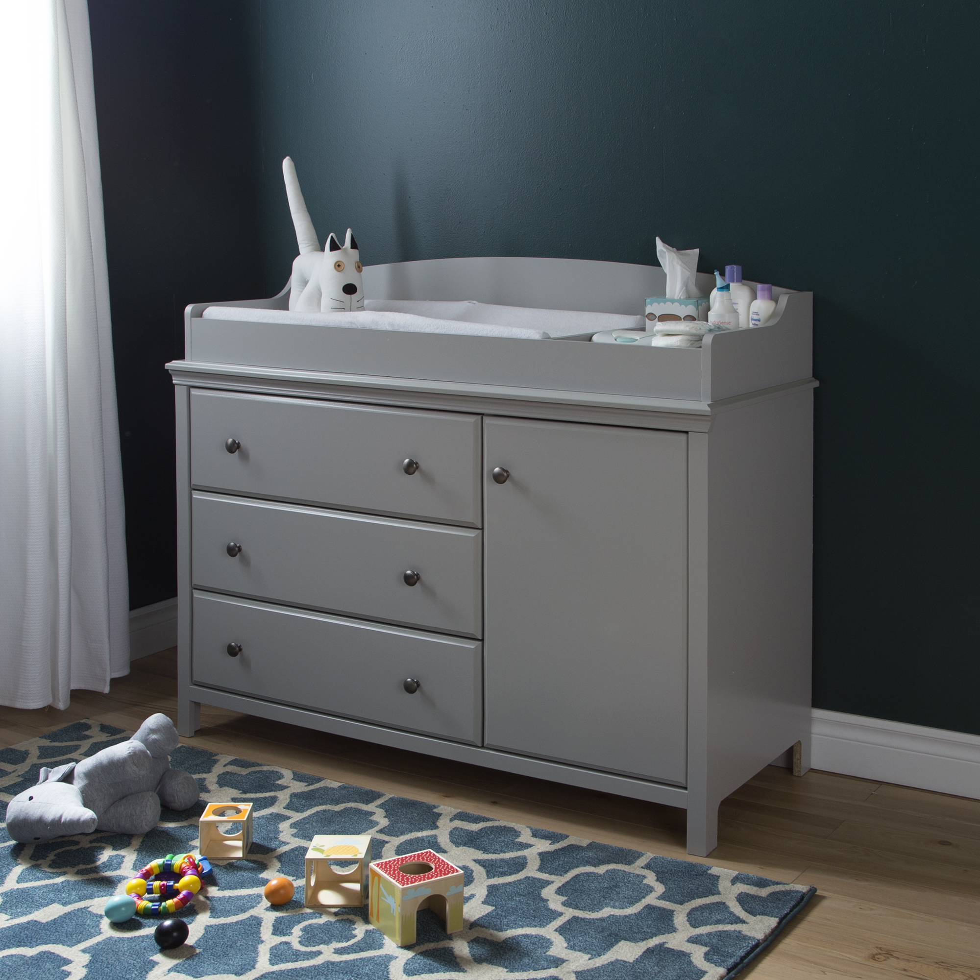 South Shore Cotton Candy Changing Table with Removable Top, Multiple Finishes by South Shore Furniture
