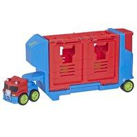 Transformers Rescue Bots Academy Flip Racers Optimus Prime Trailer