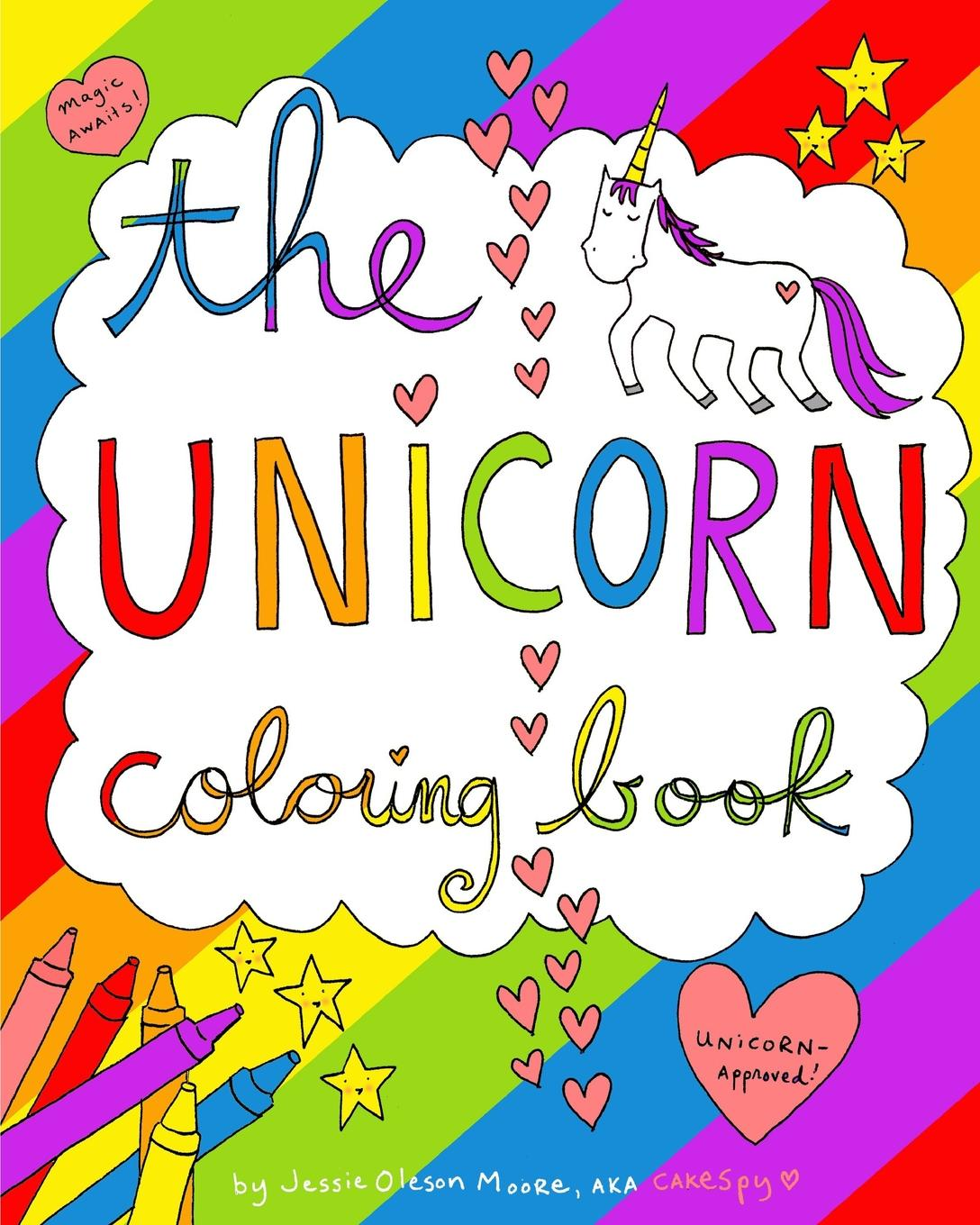 The unicorn coloring book paperback