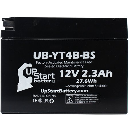 YT4B-BS Battery Replacement (2.3Ah, 12v, Sealed) Factory Activated, Maintenance Free Battery Compatible with - 2015 Yamaha SR400, 2008 Suzuki DR-Z70, 2009 Suzuki DR-Z70, 2006 Yamaha TTR50E - image 2 of 3