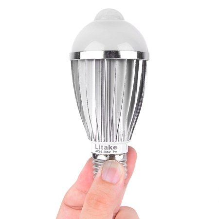 Generic E27 7w Pir Infrared Sensor Motion Light Bulb Pure