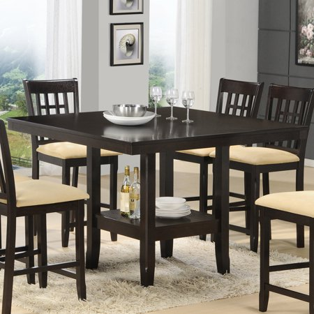 hillsdale tabacon counter height dining table with wine storage rack. Black Bedroom Furniture Sets. Home Design Ideas