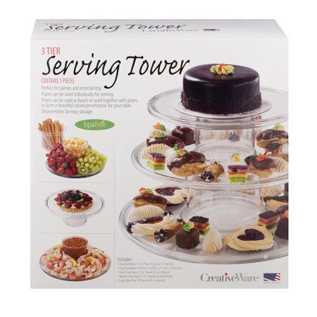 Creative Ware 3 Tier Serving Tower - 5 PC, 5.0 PIECE(S) ()