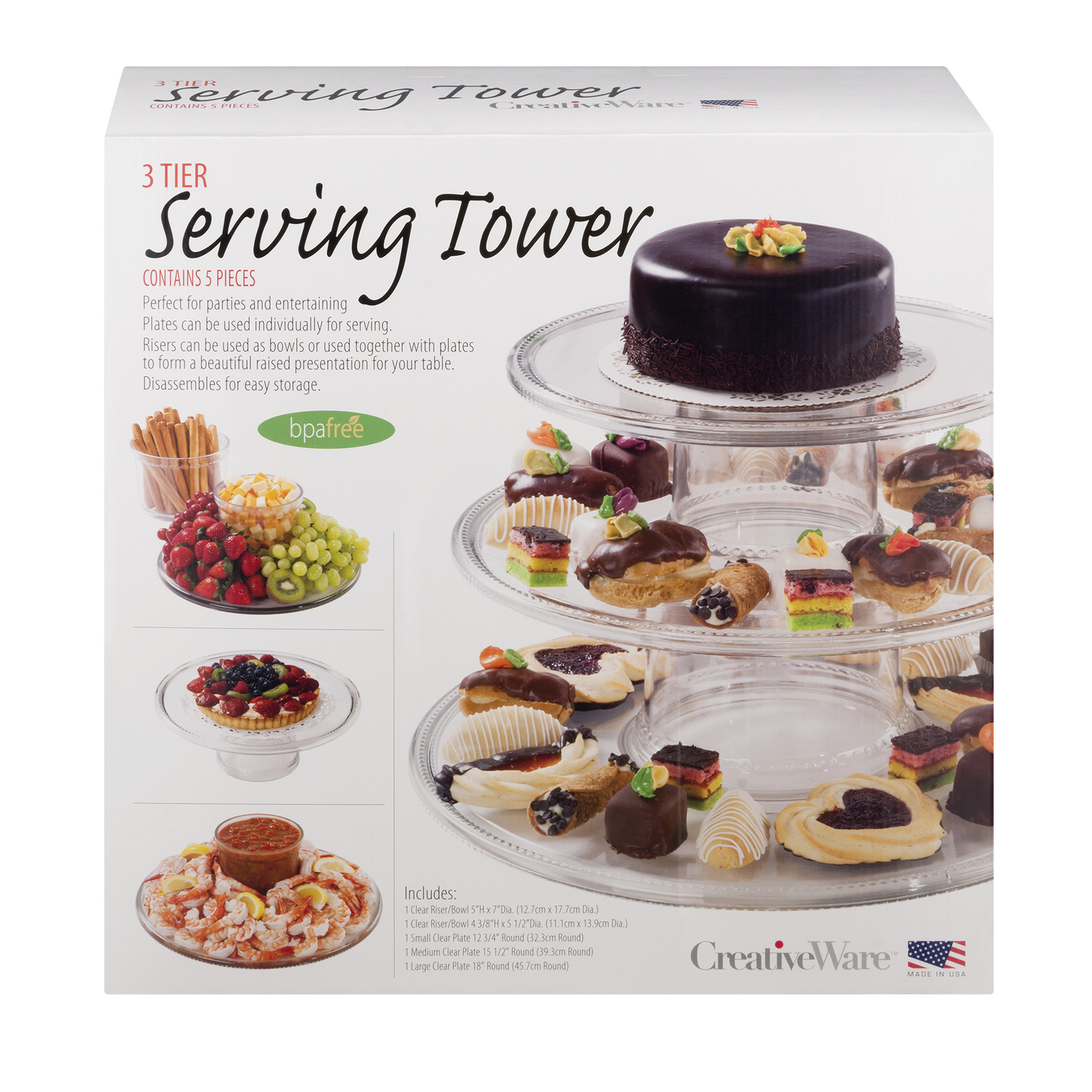 Creative Ware 3 Tier Serving Tower - 5 PC, 5.0 PIECE(S)