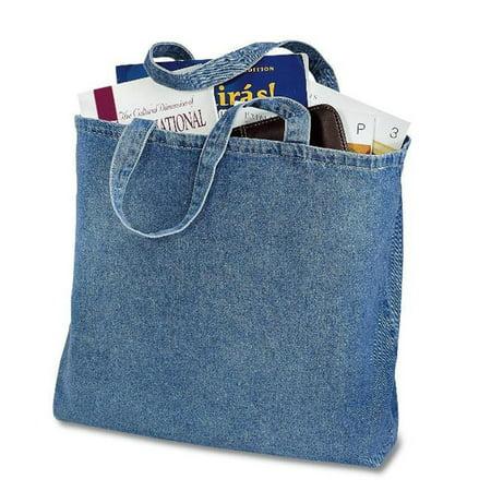 Cotton Tote Bag ((6 Pack) 6 Pack Heavy Cotton Denim Convention Reusable Tote Bag)