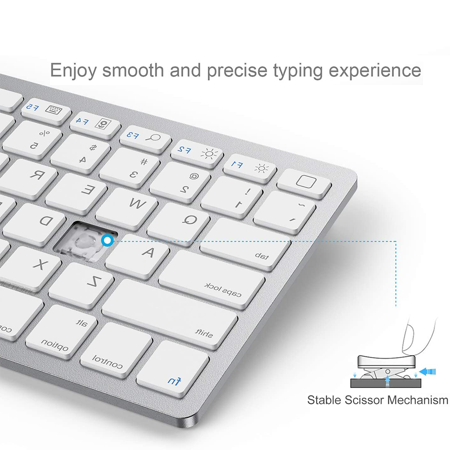 Slim Wireless Keyboard, Ergonomic Design,made of Durable ABS Material,for Windows, XP, Mac OS, Vista, Linux and , IOS System BLACK - image 6 of 8