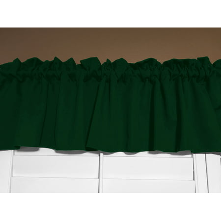 Solid Poplin Window Valance Hunter Green 58