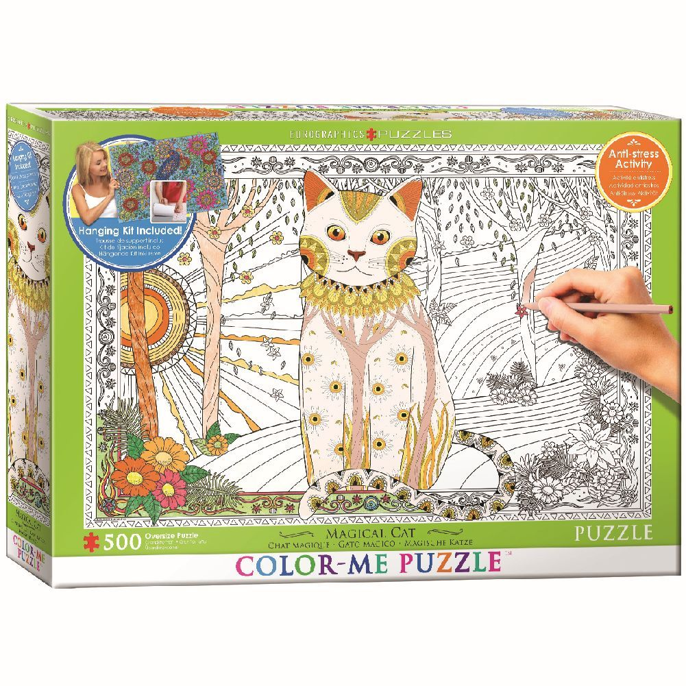 Color Me Magic Cat 500 Piece Puzzle