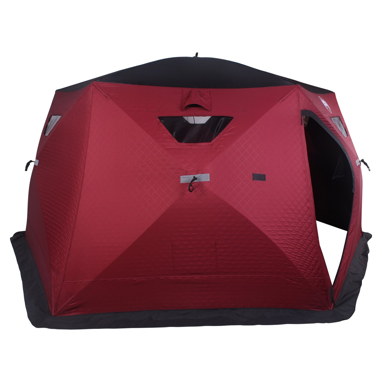 Hex-Hub 6 to 8 Man Portable Thermal Ice Shelter by Thunderbay