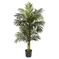 Deals on Nearly Natural 5-ft. Artificial Golden Cane Silk Palm Tree