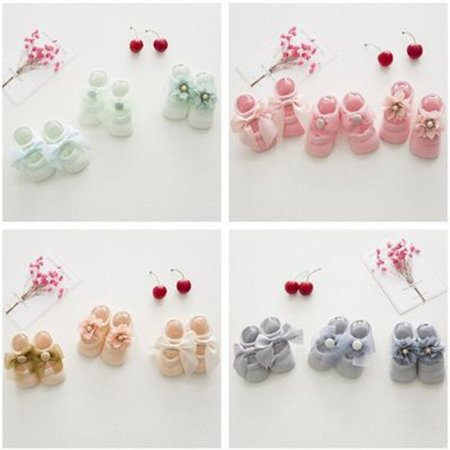 Baby-Girls Bow Tie Lace Socks Newborn/Infant/Toddler/Little Girls Socks - image 8 de 8