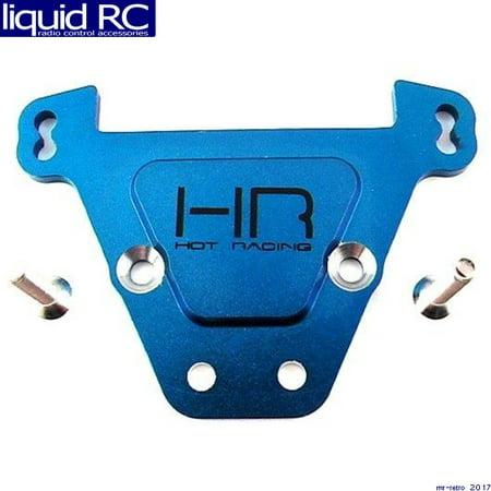 Rear Tie Bar - Hot Racing RVO13A06 Blue Aluminum Rear Bulkhead Tie Bars