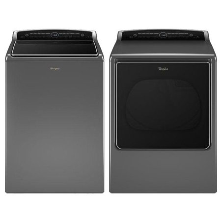 Cabrio Chrome Shadow Top Load Laundry Pair with WTW8500DC 27.5