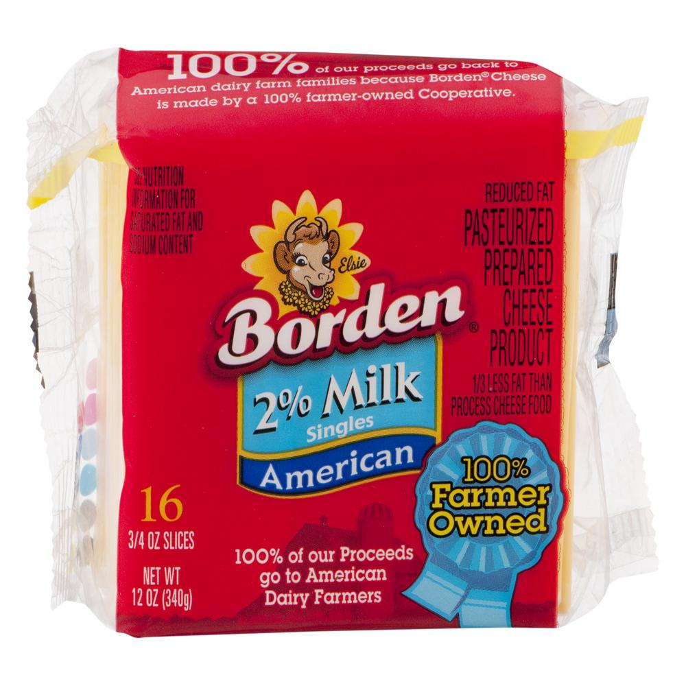 Borden 2% Milk Singles American - 16 CT