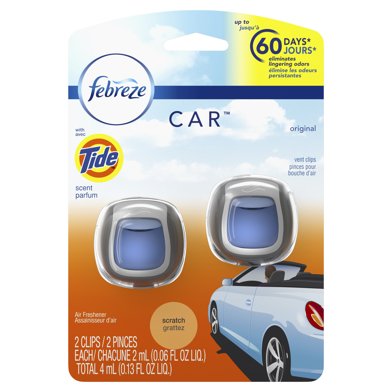 Febreze Car Air Freshener Vent Clips, Original, 3 Count
