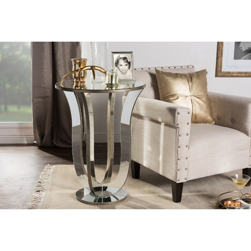 Baxton Studio Kylie Modern and Contemporary Hollywood Regency Glamour-Style Mirrored... by Wholesale Interiors