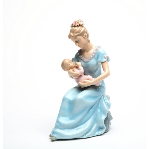 Cosmos Gifts Decorative Mom Holding a Baby Girl Musical Box by Cosmos Gifts