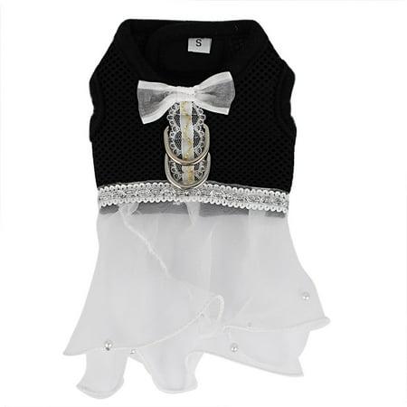 Halloween Wedding Food (Pet Dog Cat Organza Decor Princess Wedding Dress Mesh Harness Vest Size)