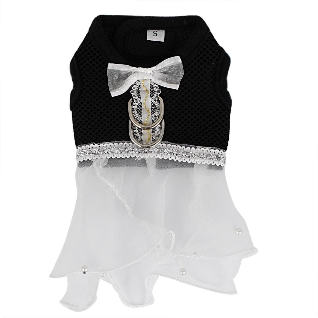 Pet Dog Cat Organza Decor Princess Wedding Dress Mesh Harness Vest Size XXS