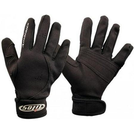 1.5mm Quality Mesh Reef Sporting Glove w/ Amara Palm Gloves for Scuba Dive Diving Divers Snorkel Snorkeling Swim Swimming Raft Rafting Kayak Kayaking Jet Ski Skiing Boat Boating Sail Sailing , All Bla