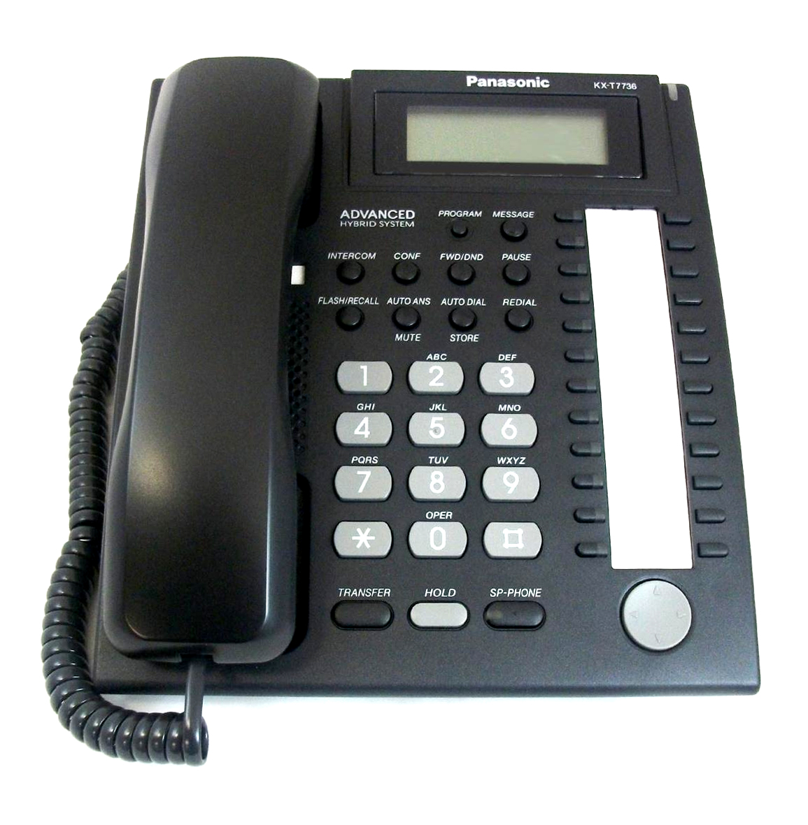 24 Button Speaker Phone 3 Line LCD Black by Panasonic Business Telephones