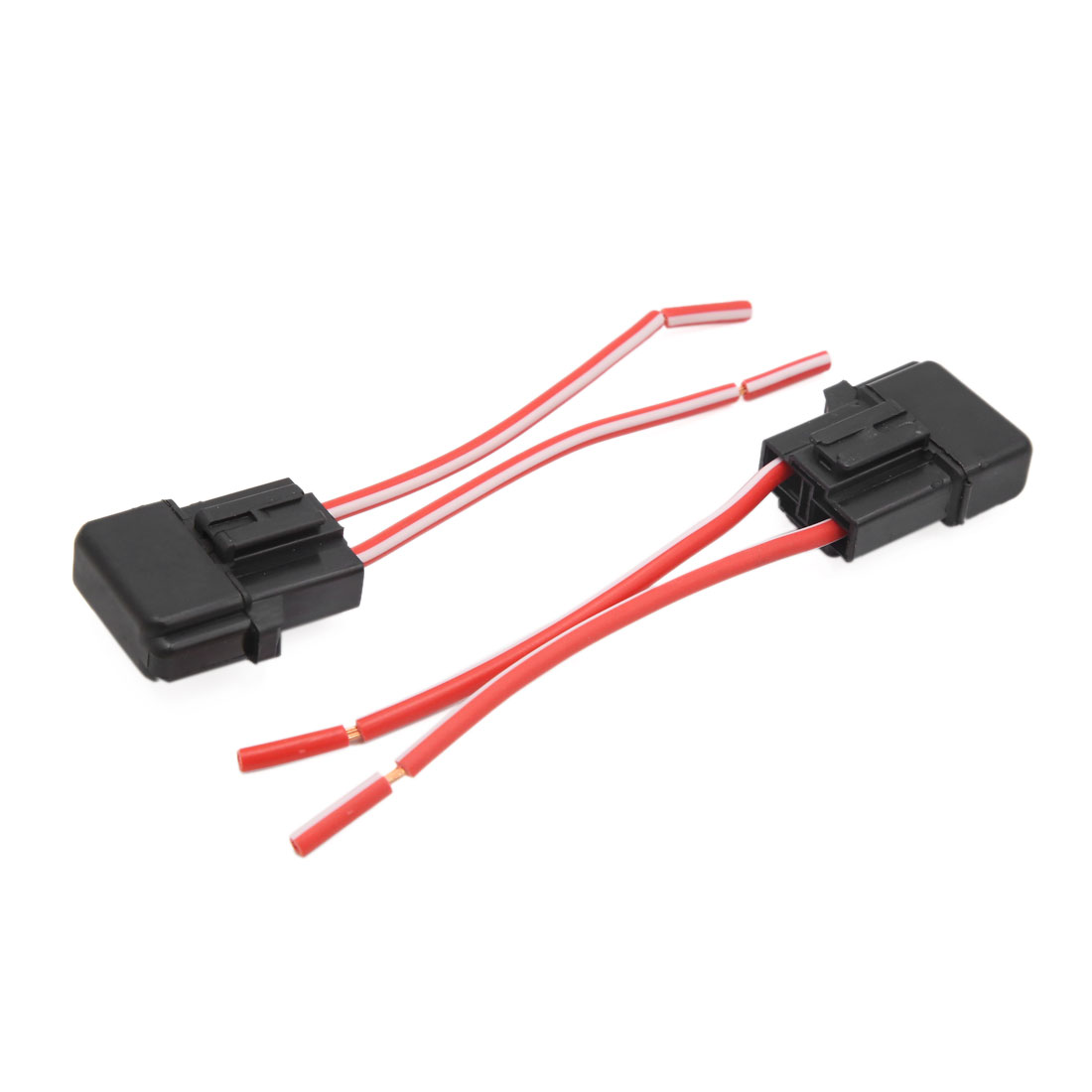 2pcs Black Plastic Square Shell Cap Wiring Harness Fuse Holder for Car Vehicle - image 2 of 2