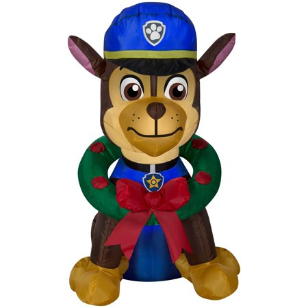 PAW Patrol Chase with Wreath Airblown Christmas Decoration